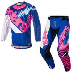 Calça e Camisa Alpinestars Techstar Venom 18 Azul Rosa