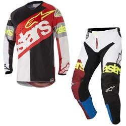 Calça e Camisa Alpinestars Racer Flagship18 Vermelho Preto