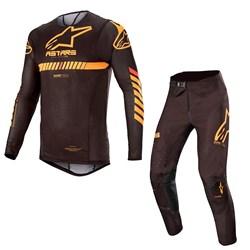 Calça e Camisa Alpinestars Supertech 20 Preto Laranja