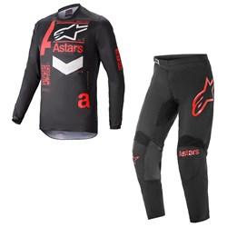 Calça e Camisa Alpinestars Fluid Chaser 21 Preto Vermelho