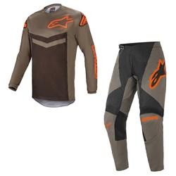 Calça e Camisa Alpinestars Fluid Speed 21 Cinza Laranja