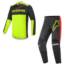 Calça e Camisa Alpinestars Fluid Tripple 21 Preto Fluor