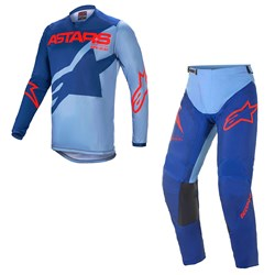 Calça e Camisa Alpinestars Racer Braap 21 Azul Vermelho