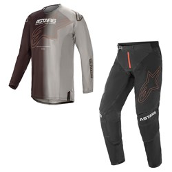 Calça e Camisa Alpinestars Techstar Phantom 21 Preto Laranja