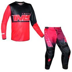 Kit Equipamento Ims 8 Itens Trilha Motocross Flex Vermelho
