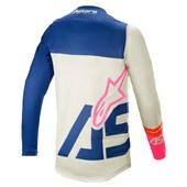 Calça e Camisa Alpinestars Racer Compass 21 Branco Azul