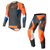 Calça e Camisa Alpinestars Supertech 19 Laranja Fluor