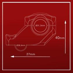 Adaptador De Guidão Avançado 28 Para 32 mm Oxxy Anker Preto