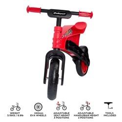 Bicicleta De Equilibrio Polisport First Ride Preto Vermelho