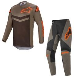 Calça E Camisa Alpinestars Fluid Speed 21 Laranja