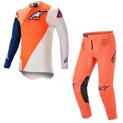 Calça E Camisa Alpinestars Supertech Blaze 21 Laranja