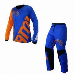 Calça E Camisa Amx Infantil Extreme Azul Laranja