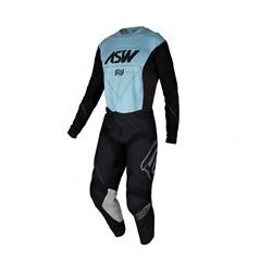 Calça E Camisa Asw 21 Podium Vertice Preto Azul
