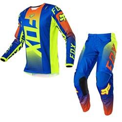 Calça E Camisa Fox 180 Oktiv Azul
