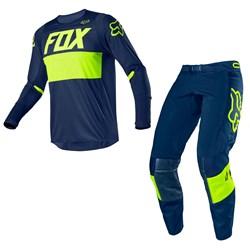 Calça E Camisa Fox 360 Bann Azul