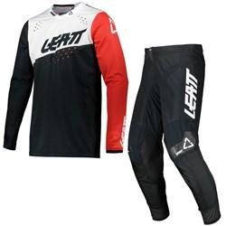 Calça E Camisa Leatt Moto 4.5 Preto Branco