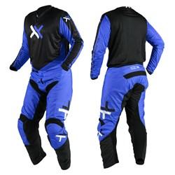 Calça e Camisa Mattos Racing Atomic Azul Preto