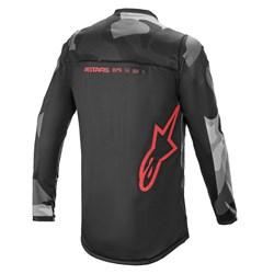 Camisa Alpinestars Racer Tactical 21 Cinza Vermelho