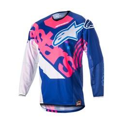 Camisa Alpinestars Techstar Venom 18 Azul Rosa