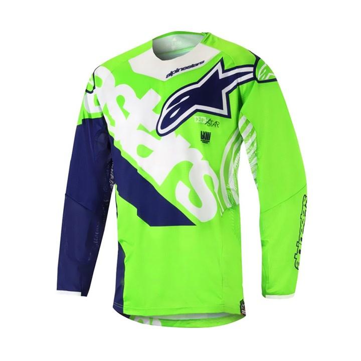 Camisa Alpinestars Techstar Venom 18 Verde Branco