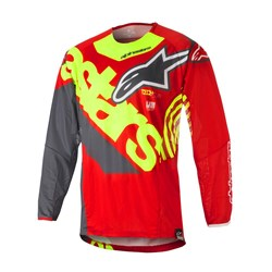 Camisa Alpinestars Techstar Venom 18 Vermelho Amarelo Fluor