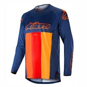 Camisa Alpinestars Techstar Venom 19 Azul Laranja