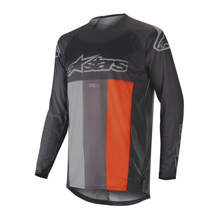 Camisa Alpinestars Techstar Venom 19 Cinza Laranja