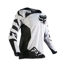 Camisa Fox 180 Airline Juvenil Branco Preto