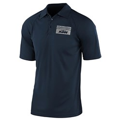 Camisa Polo Troy Lee Ktm Team Event Azul