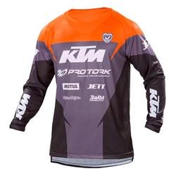 Camisa Pro Tork Ktm Factory Edition Preto Laranja