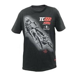 Camiseta Holeshot Cairoli TC222 Cinza