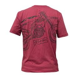 Camiseta Holeshot Honda Crf Vermelho