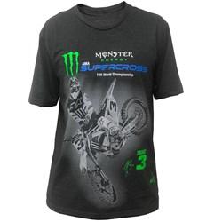 Camiseta Holeshot Tomac 3 Monster Cinza
