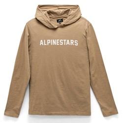 Camiseta Manga Longa Alpinestars Legit Hoodie Areia Preto
