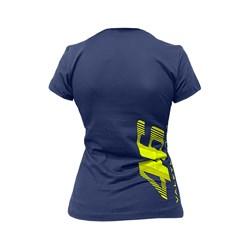 Camiseta Street Bike Feminina Vale Yellow 46 Azul Fluor