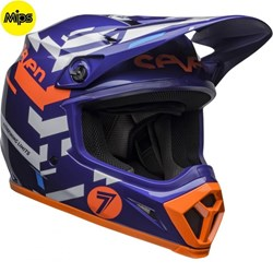 Capacete BELL MX-9 2020 SEVEN EQUALIZER Azul