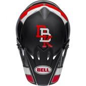 Capacete Bell Mx-9 2020 Twitch Replica Preto Vermelho