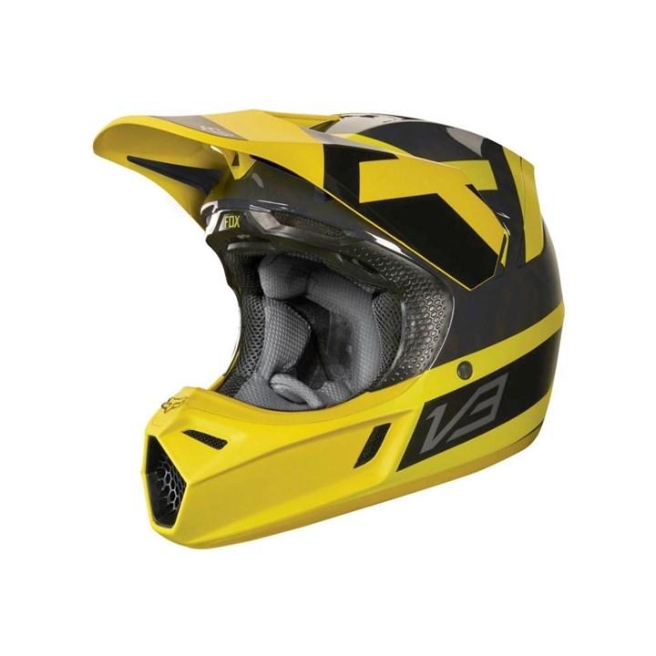 Capacete Fox V3 Mvrs Presst Amarelo