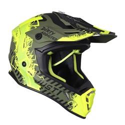 Capacete Just1 J38 Mask Amarelo Fluor Preto