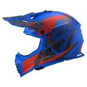 Capacete Ls2 Fast Evo Mx437 Alpha Azul