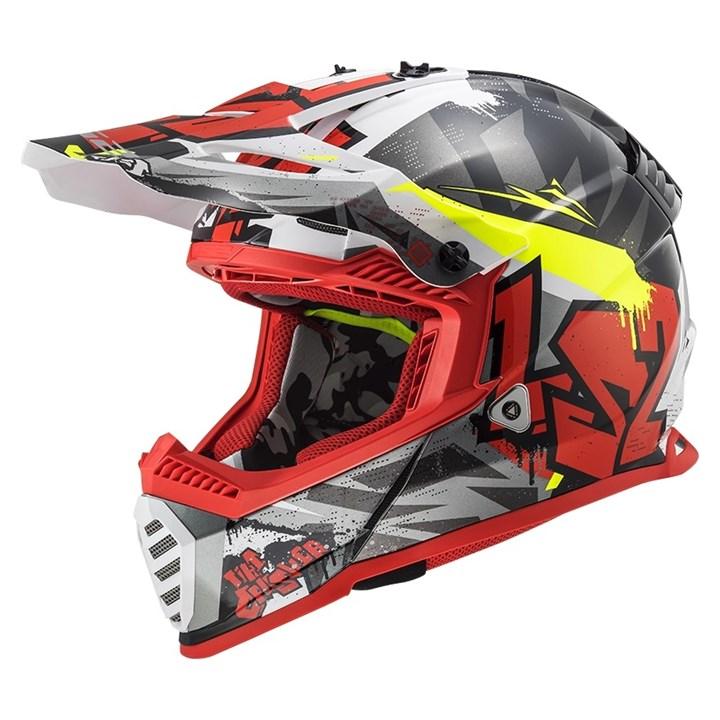 Capacete Ls2 Fast Evo Mx437 Crusher Vermelho