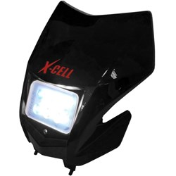 Carenagem do Farol Completo X-CELL Crf 230 Com Led Preto