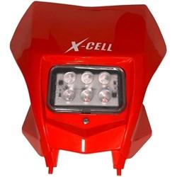Carenagem do Farol Completo X-CELL Crf 230 Com Led Vermelho