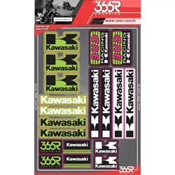 Cartela De Adesivo 366r Kawasaki