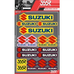 Cartela De Adesivo 366r Suzuki
