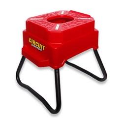 Cavalete Circuit Cubic Banco Plástico Vermelho Branco