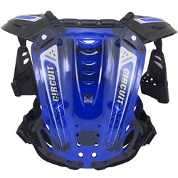 Colete Circuit Com Protetor De Ombro Azul