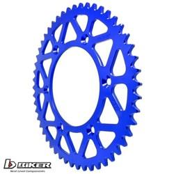 Coroa Aluminio BIKER YZF Azul