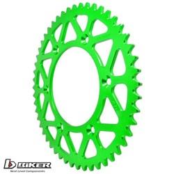 Coroa de Alumínio Kxf 250 - Kxf 450 - Klx 450 - Kx 125 - Kx 250 Biker Verde