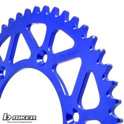 Coroa de Alumínio Yz 85 - Yz 80 Biker Azul